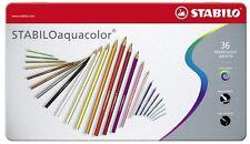 STABILO AQUACOLOR 36 Colori Matite Acquerellabili con Astuccio in Metallo 1636-5