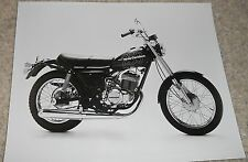 "HARLEY-DAVIDSON ORIGINAL DEALERSHIP PHOTO 1978 SS250 BLACK AND WHITE 10 1/8""x 8"""