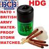 WATERPROOF MATCHES BRITISH ARMY NATO BCB STORM PERFECT 1X Tube (25) SF BUSHCRAFT