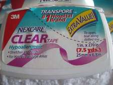 Nexcare First Aid Clear Tape Hypoallergenic Flexible For Hard Reach Areas 7.5