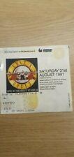 More details for guns n roses appetite for destruction tour concert ticket stub wembley aug 1991