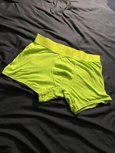 1 Pair Versace Green Underwear CHECK DESCRIPTION! MSRP $75 Clean Neon Green