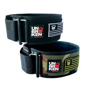 Weight Lifting Nylon Belt Specially designed for WOD,Black L . Workout for Gym