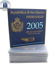 10 x San Marino KMS 2005 stgl. KMS 1 cent - 2 euro 2005 con 5 Euro Argento Onofri