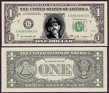 USA - VERITABLE Billet de 1 DOLLAR - ROCK MOTORHEAD - Lemmy Kilmister - NEUF