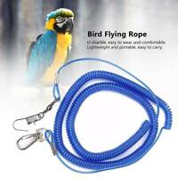 Parrots Bird Leash Harness Pet Anti Flying Outdoor Training Lead Rope DP ~
