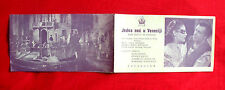 NIGHT IN VENICE 1953 JOHANN STRAUSS JEANNETTE SCHULTZE OPERA EXYU MOVIE PROGRAM