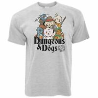 Mens Dungeons and Dogs T Shirt DnD D&D Gaming Geek Gift Idea Puppy Tee