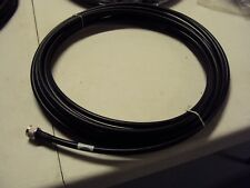 Times Microwave Systems 30 Foot LMR400 Coaxial Cable N-Male Black Coax - Used