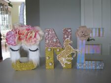 Handmade Unicorn Letters for a Special 1Yr Birthday Decoration or Pic Prop / NEW