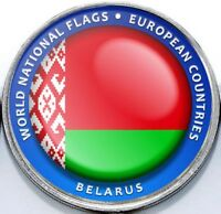 Belarus - Bougainville Island 1 Dollar 2017 UNC Flag unusual coinage