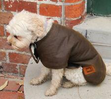 Australian Oilskin Waterproof dog coat jacket 25 - 45cm sherpa lining NEW