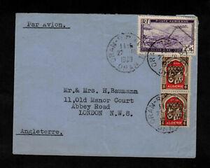 Oran Algerien nach London England Brief 1949 Par Avion - Algerie Mischfrankatur