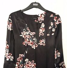 M&S Marks s8 Autograph Luxe Plum Mix Floral FlutedSleeve Top Blouse Shirt BNWT
