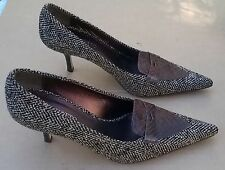 Bellofatto Italian Made Tweed & Leather Classic Pumps 8 B Excellent