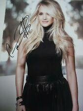CARRIE UNDERWOOD  SIGNED COLOR PHOTO -- BLACK DRESS