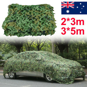 3m/5m Shooting Hide Army Camouflage Net Hunting Camo Netting Woodland Shelter AU