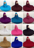 Muslim Women Prayer Dress Long Scarf Hijab Islamic Large Overhead Clothes Jilbab