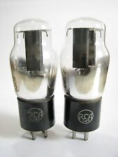 PAIR 1943 RCA 80 rectifier tubes - TV7D tested @ 46/45, 49/45, min:40/40