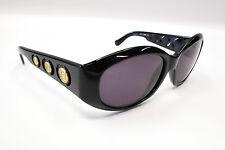 Nice! VINTAGE '90s FENDI FS 157 BLACK GOLD Logo OVAL WRAP Rx SUNGLASSES 1888