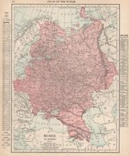 RUSSIA IN EUROPE. Poland Ukraine Caucasus Finland. RAND MCNALLY 1912 old map