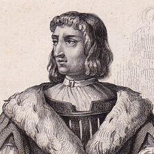 Portrait XIXe Philippe de Commynes Filips van Komen Château de Renescure