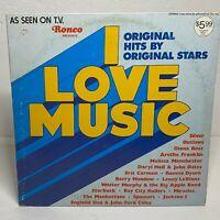 "Ronco Presents ""I Love Music"": Vinyl LP 1976 Compilation (Rock / Funk / Soul)"
