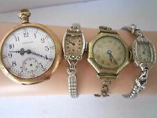 Antique & Vintage Watches for Repair Waltham Lady Elgin Driva Gruen