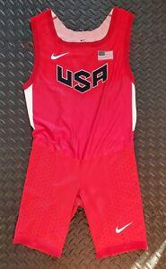 Nike Elite Pro USA Track Speedsuit, Men's, X-Large, New, With Tiny Damage