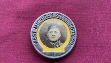 Vintage / Antique West Michigan Steel Foundry Employee Photo ID Badge Pinback