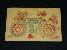 MOTORCYCLE THEME POSTCARD EARLY 1900'S
