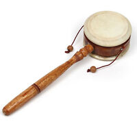 Known as a Basic Hand, Pellet, Monkey or Rattle Drum - Fair Trade - Easy to Play