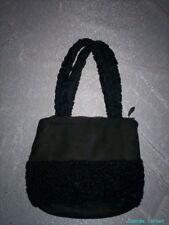 Vintage Lambs Wool Trimmed Handbag