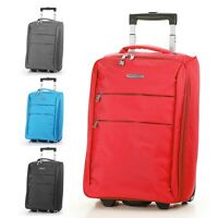 """Foldable Rolling 20"""" Bag Carry on Luggage Travel Lightweight Black Red Blue"""