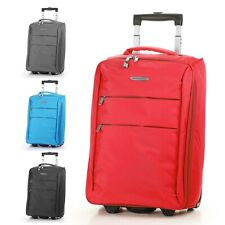 "20"" Carry on Luggage Bag Foldable Rolling Travel Lightweight Black Red Blue New"