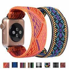Bohemian Scrunchie Elastic Nylon Band Strap for Apple Watch Band Series 5 4 3 2
