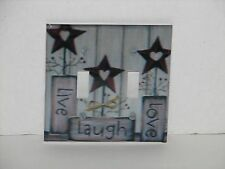 Live Laugh Love double toggle switch plate light cover