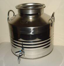 Damigiana + Contenitore con rubinetto per olio o vino litri 50 in acciaio 18/10