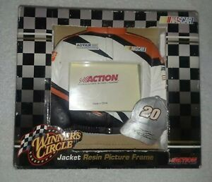 """Home Depot Tony Stewart #20 NASCAR Jacket Resin Picture Frame 3 .5"""" x 5"""" new"""