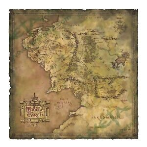 LOTR Hobbit Parchment Map of Middle-earth An Unexpected Journey Weta Authentic