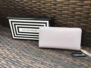 Lulu Guinness Leather - Grainy Grey Continental Wallet