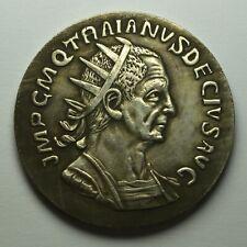Large Emperor Decius Sestertius Coin with Felicitas. 3.5cm 20g. Roman/Silver