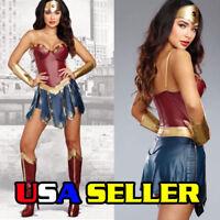 Adult Wonder Woman Deluxe Halloween Costume,Surperhero,Princess,Sexy Cosplay