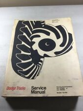 Dodge Trucks Models 100-800 4x4 Motor Homes Service Manual