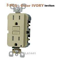 3 X Leviton N7599-3I 15-Amp 125-Volt  SmartLockPro Slim GFCI Rec