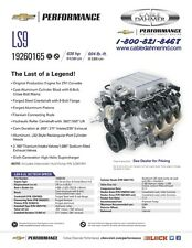 Chevrolet Performance Supercharged LS9 6.2L Engine 19260165 Call Direct!