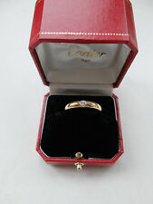 CARTIER Ring ELLIPSE mit Brillant von 0,25 ct - 750 Gelbgold - 56 -  1993 + Box