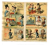 Vintage Trade Card Folder RISING SUN STOVE POLISH Story of a Foolish/wise Man