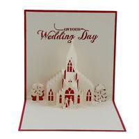 3D Card Birthday Wedding Valentine Anniversary Greeting Cards Invitations G