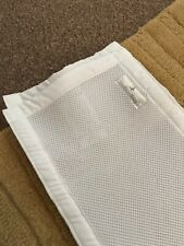 breathable Mesh baby cot bumper White